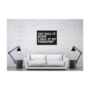 Černá nástěnná dekorace Oyo Concept Therapist, 40x60cm