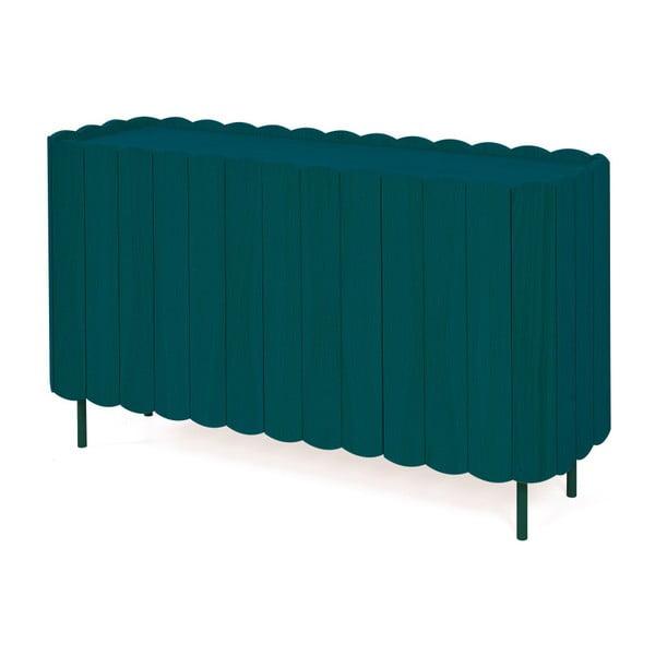 Petrolejově zelená komoda z bukového dřeva HARTÔ Cesar