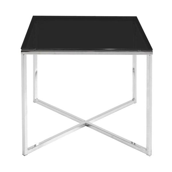 Černý odkládací stolek Actona Cross, 50 x 45 cm