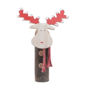 Vánoční dřevěná dekorace ve tvaru soba InArt Alina