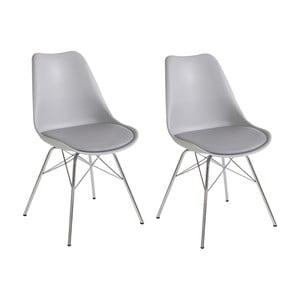 Sada 2 šedých jídelních židlí Støraa Jenny