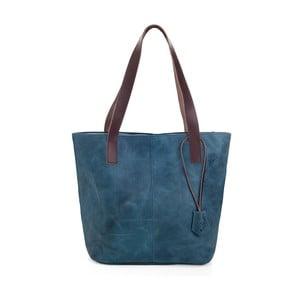 Modrá kožená kabelka Woox Trogia Atera