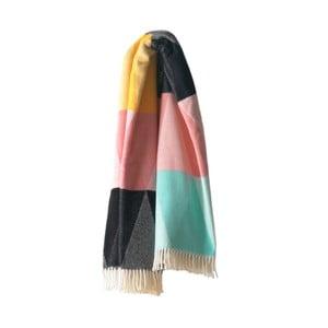 Barevný pléd s podílem bavlny Euromant Pastelino, 140x180cm