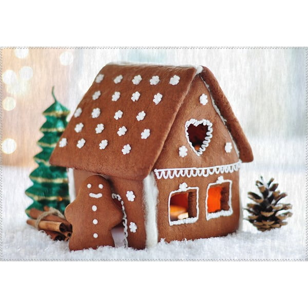 Koberec Vitaus Christmas Period Cookie House, 50 x 80 cm