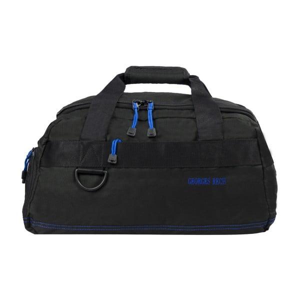 Černá taška s modrými detaily BlueStarMurcie, 34litrů