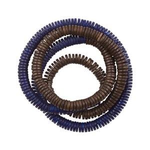Náramek Rope, hnědo-modrý