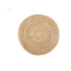 Koberec z juty Linen Couture Rug Nataniel, ⌀ 100 cm
