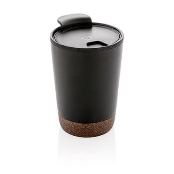 Pahar termic de voiaj cu detalii din plută XD Collection, 0,3 l, negru imagine