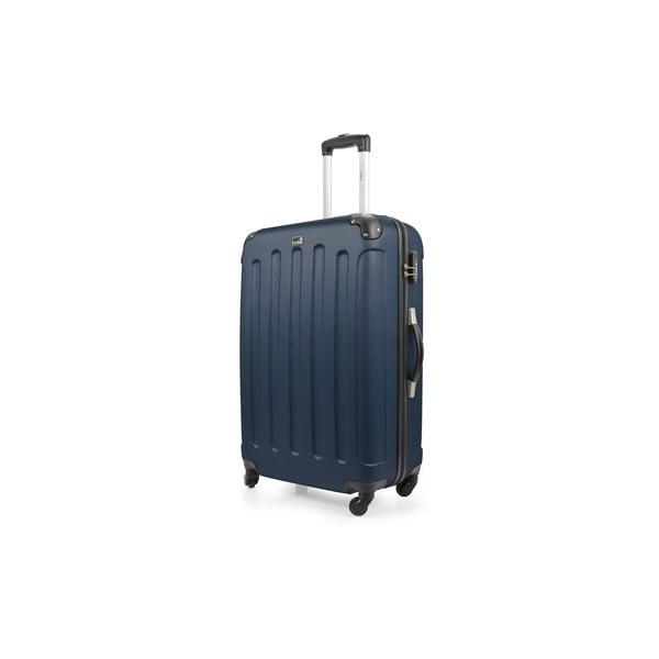 Modrý cestovní kufr na kolečkách Bluestar,75l