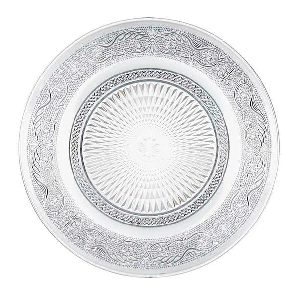 Sklenený tanier Unimasa Romance, ⌀ 25 cm