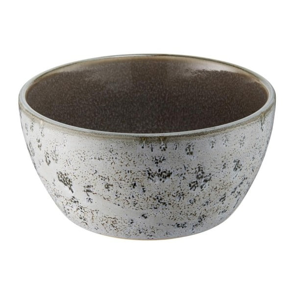 Šedá kameninová miska s vnitřní glazurou v šedé barvě Bitz Mensa, průměr 12 cm