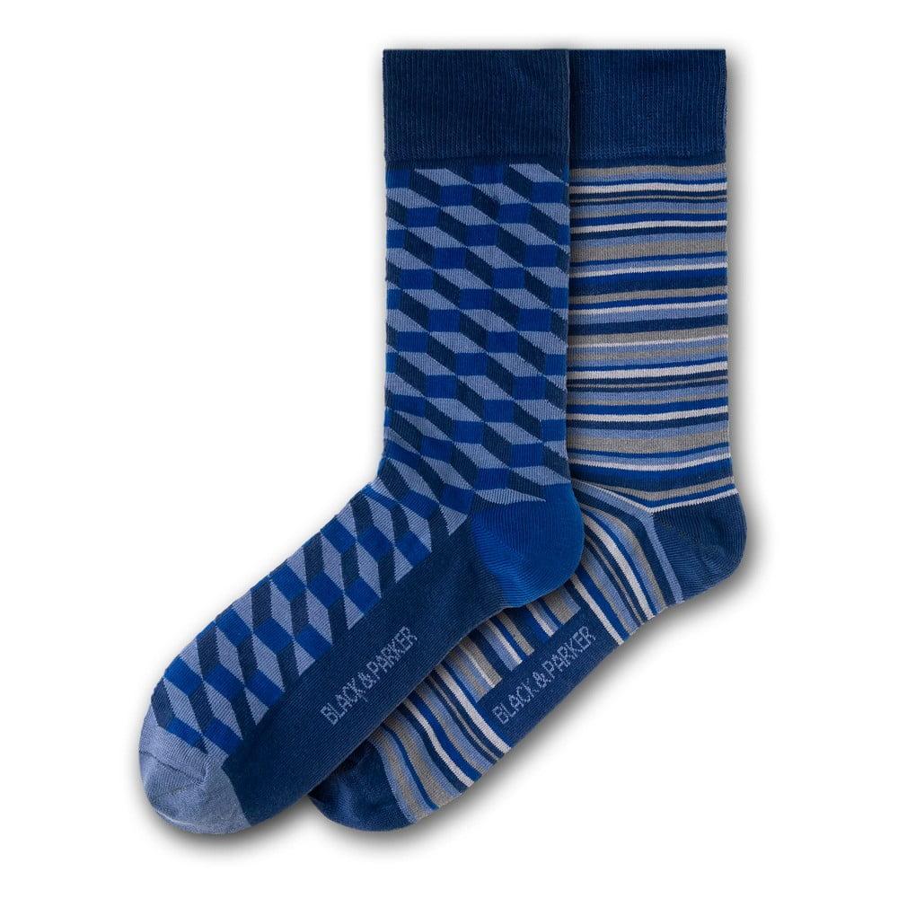 Sada 2 párů unisex ponožek Black&Parker London Wellford Park, velikost 37 - 43