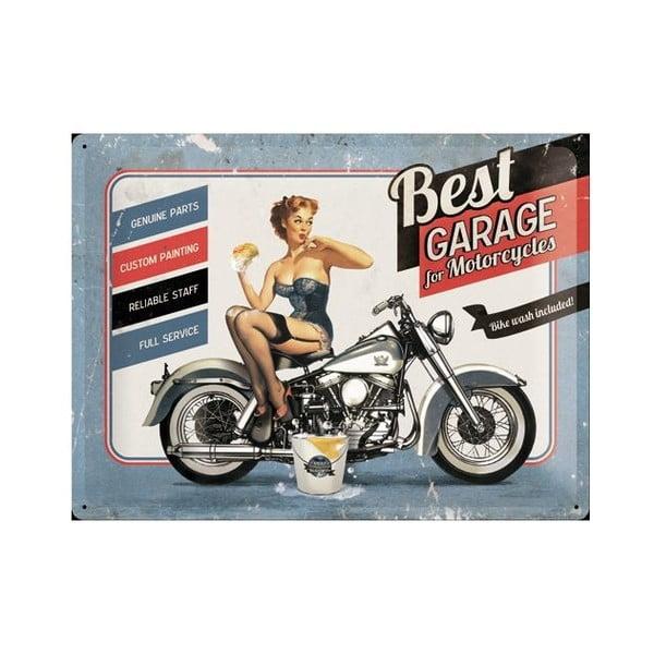 Plechová cedule Best Garage, 30x40 cm