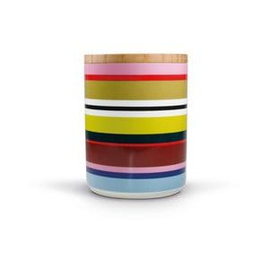 Porcelánová dóza s bambusovým víkem Remember Verano,1.62x⌀1.25dm