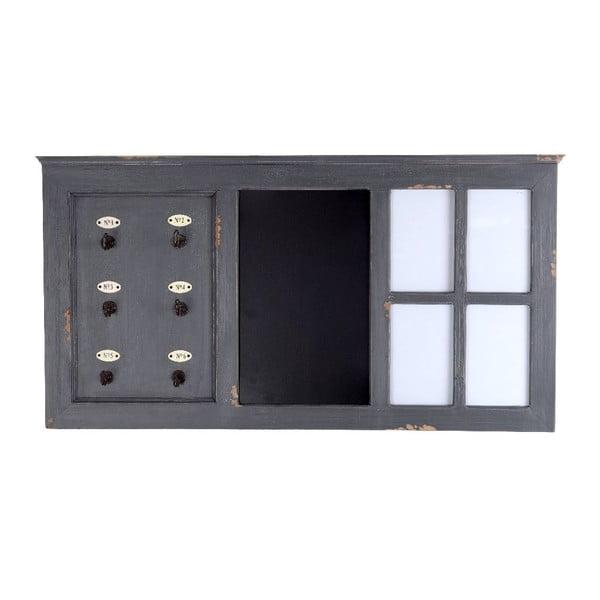 Věšák na klíče s tabulí Grey, 88x46 cm