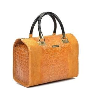 Koňakově hnědá kožená kabelka Isabella Rhea Kleo Cognac
