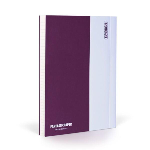 Zápisník FANTASTICPAPER A5 Aubergine/White, řádkovaný