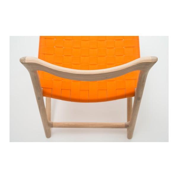Židle Fawn White Pigment Gazzda, oranžová