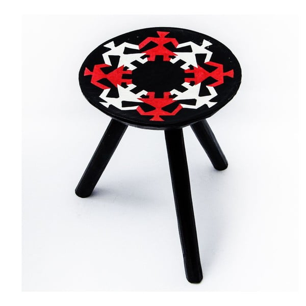 Ručně malovaná stolička Mandra, 38 cm