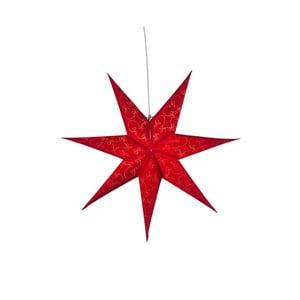Červená svítící papírová dekorace Best Season Decorus