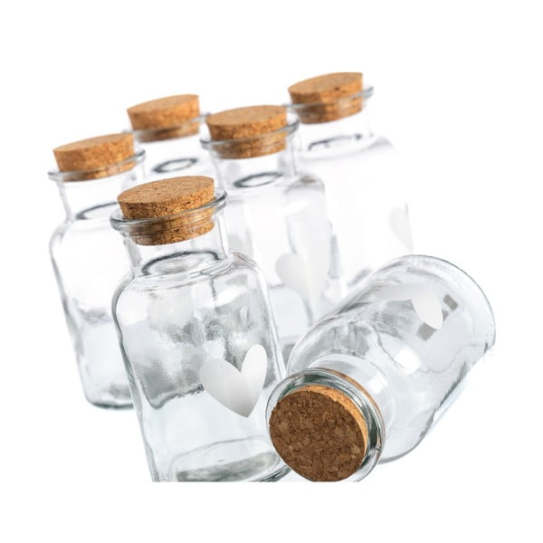 Set 6 pahare Heart, 250 ml