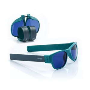 Modré sluneční srolovatelné brýle InnovaGoods Sunfold AC4