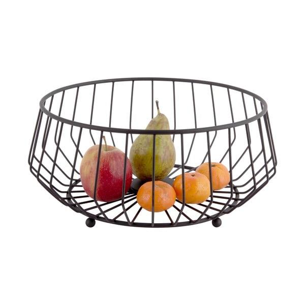 Coș metalic pentru fructe PT LIVING Linea, ø30cm, negru