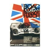 Plakát Porsche Brands Hatch 1970, 70x50 cm