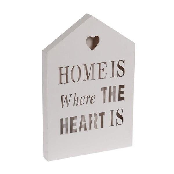 Svítící dekorace Home Is White, 20x30 cm