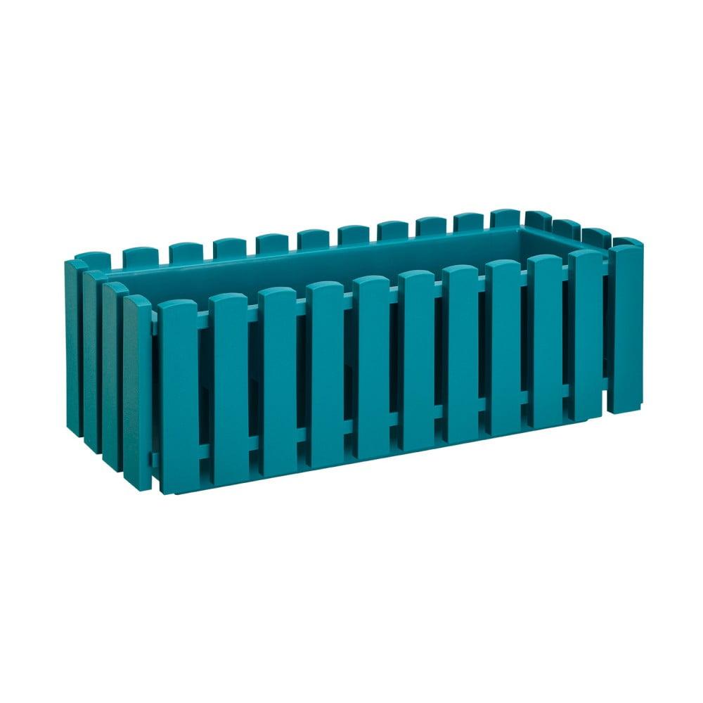 Tyrkysový samozavlažovací truhlík Gardenico Fency Smart System, délka 50 cm