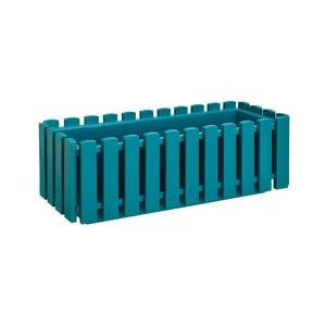 Tyrkysový samozavlažovací truhlík Gardenico Fency Smart System, délka 50cm