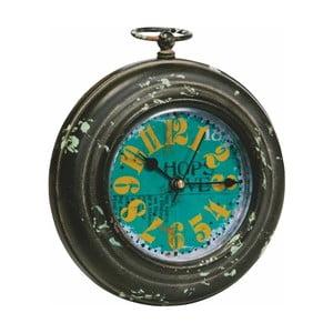 Kovové hodiny, antique, 13x15 cm