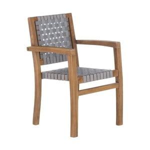 Šedá zahradní židle z recyklovaného teakového dřeva SOB Garden