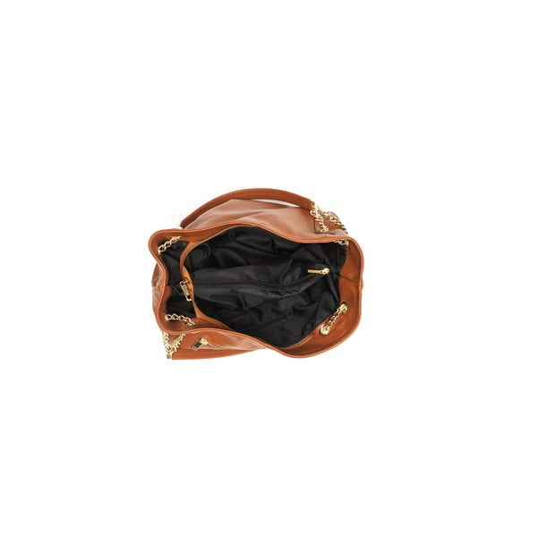 Kožená kabelka Tote 2089 Cognac
