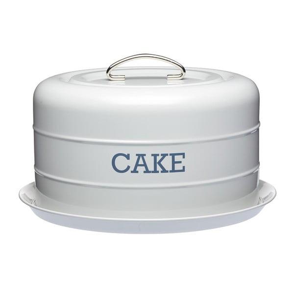 Šedá plechová dóza na koláč Kitchen Craft Nostalgia