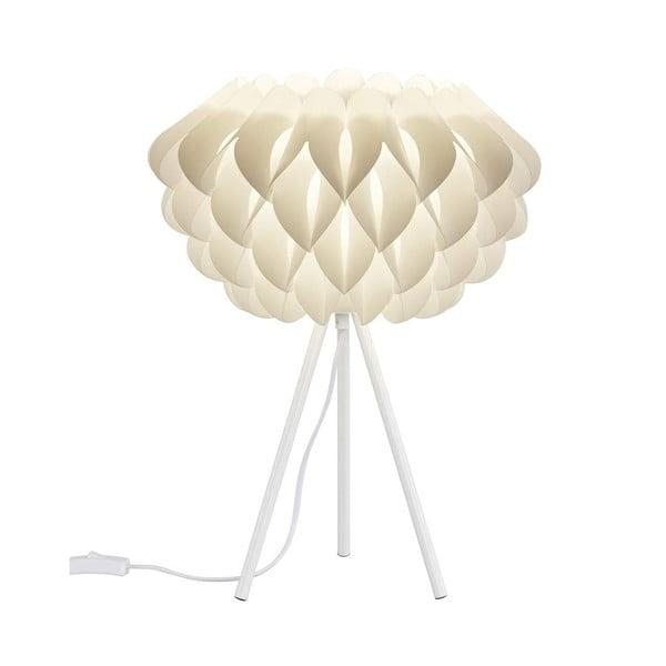 Bílá stolní lampa Trio Tilia, výška 50 cm