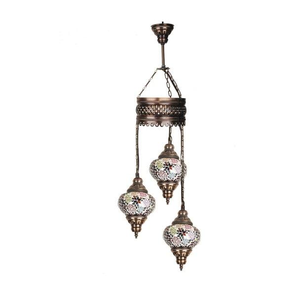 Skleněná závěsná lampa Three XV, 13 cm