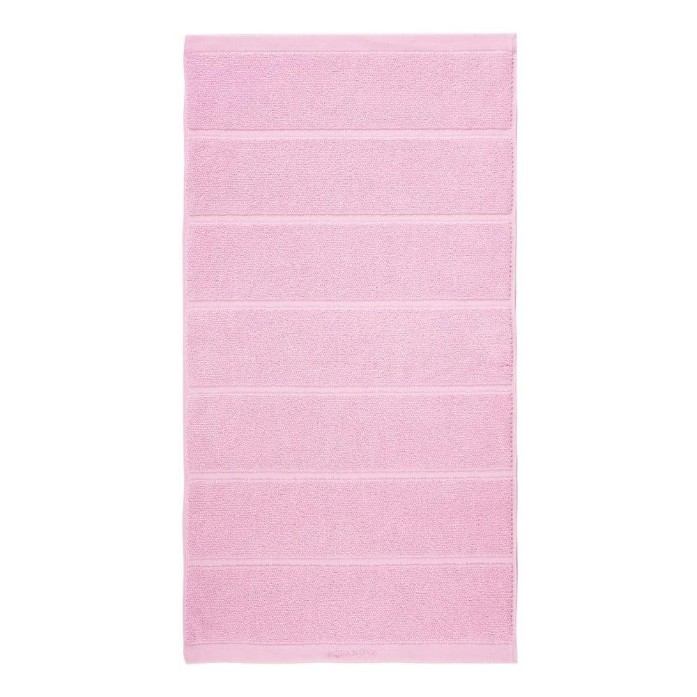 Růžový ručník Aquanova Adagio, 55x100cm