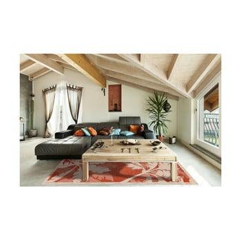 Covor foarte rezistent Floorita Palms Orange, 135 x 190 cm, portocaliu de la Floorita