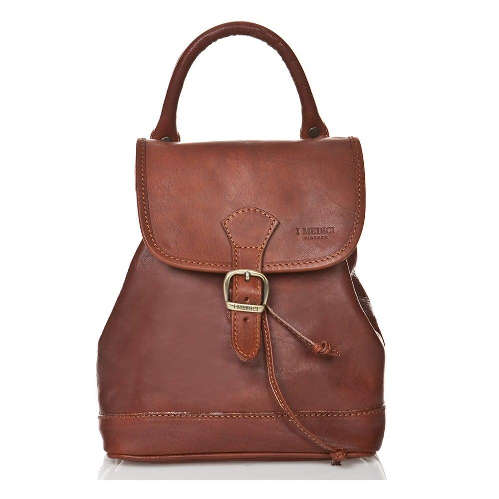 Hnědý dámský batoh z telecí kůže Medici of Florence Marta abc913701f