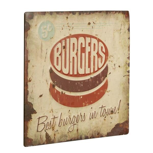 Cedule Burgers, 30x30 cm