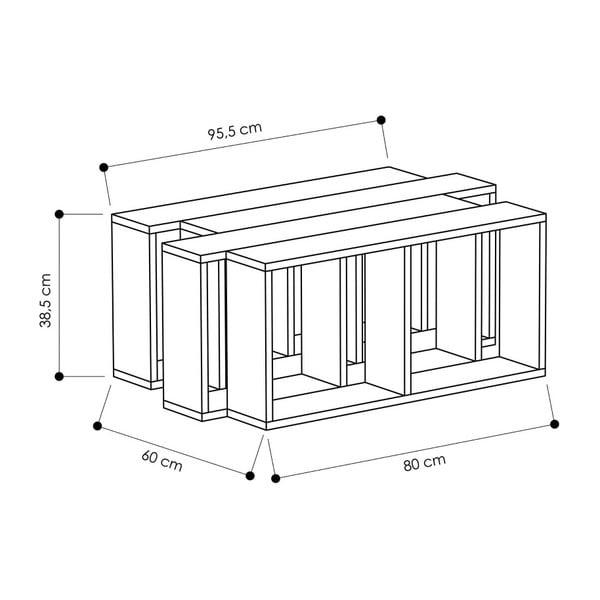 Bílý konferenční stolek Homitis Walky