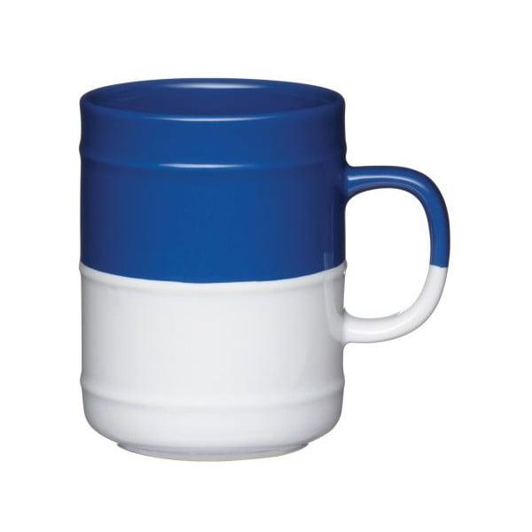 Modrobílý hrnek, 300 ml