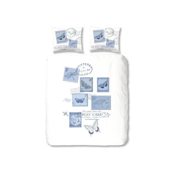 Povlečení Postage, 200x200 cm, modré