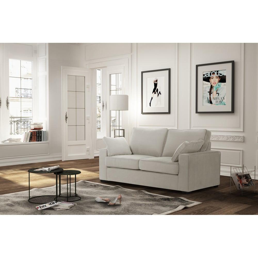 canapea cu 2 locuri jalouse maison serena crem bonami. Black Bedroom Furniture Sets. Home Design Ideas