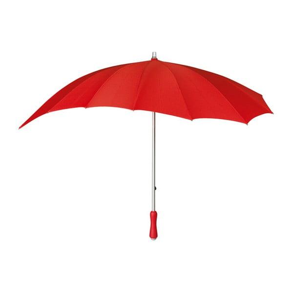 Červený golfový deštník ve tvaru srdce Heart, ⌀107cm