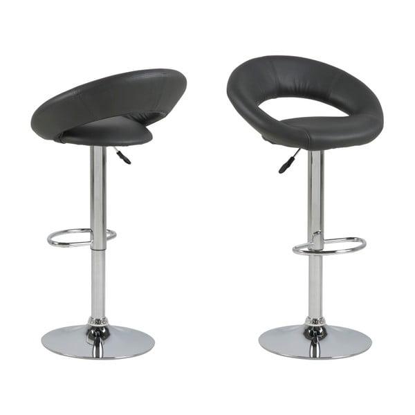 Čierna barová stolička Actona Plump
