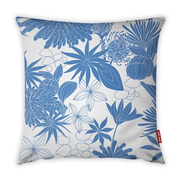 Niebiesko-biała poszewka na poduszkę Vitaus Jungle Verde, 43x43 cm