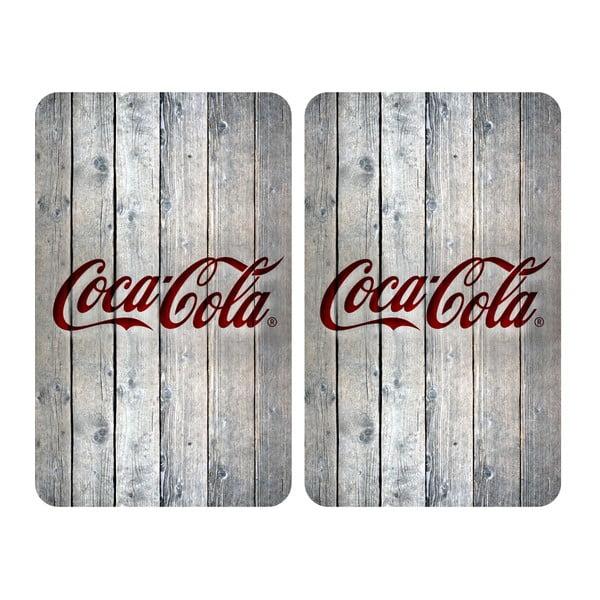 Sada 2 sklenených krytov na sporák Wenko Coca-Cola Wood