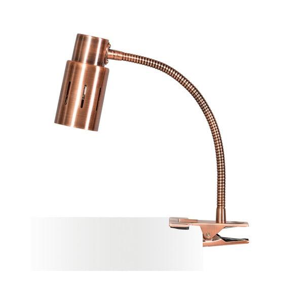 Měděná stolní lampa s klipem ETH Sava